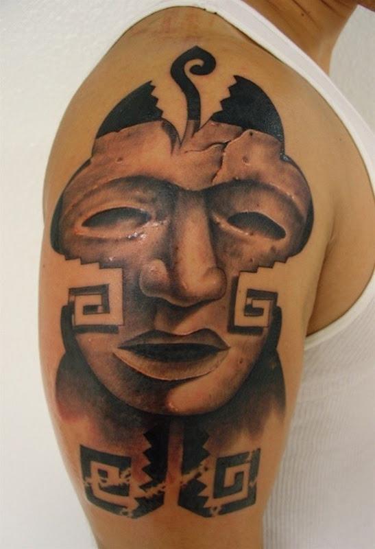 face_nica_asteca_tatuagem_ideia