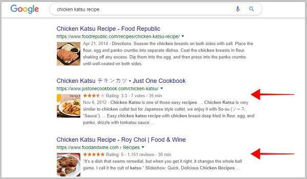Bài viết về công thức nấu ăn sẽ hiển thị đẹp, chi tiết hơn nhờ Recipe Schema Markup.