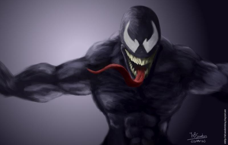 Venom sketch, using GIMP Paint Studio.
