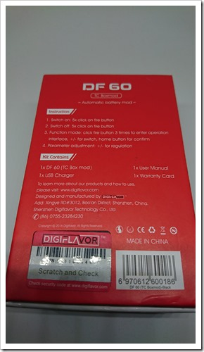 DSC 0764 thumb2 - 【MOD】DIGIFLAVOR「DF60 MOD」ファーストロットなのにめっちゃ完成度高いVW/TC MOD!!スイッチの押し心地も最高なステルス!【MiniVolt/Pico/Nugget TC比較して良】
