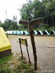Tábor v dešti.