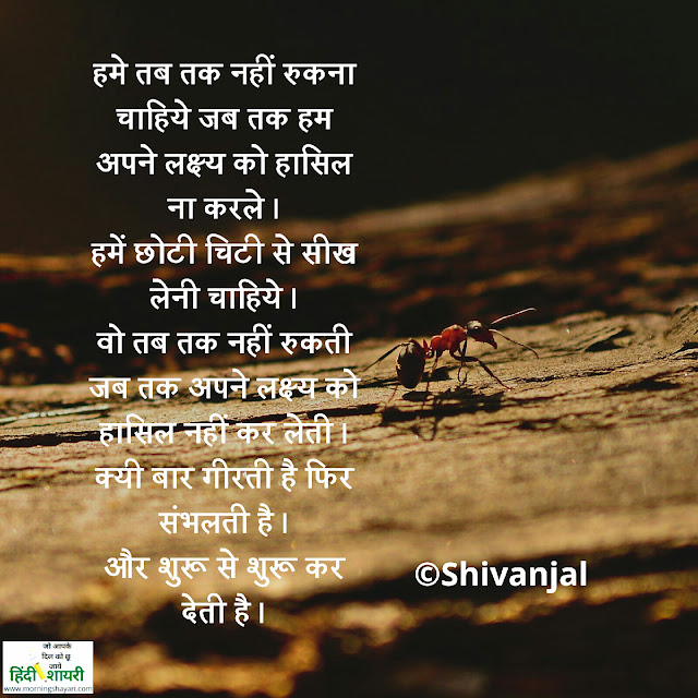 Image for [प्रेरक सफलता] हिंदी में शायरी [Motivational success] Shayari in Hindi best motivational shayari,student shayari in hindi with images and quotes