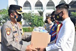 Hadapi Pandemi, Kapolresta Sidoarjo Bekali Paket Kesehatan bagi Anggota dan ASN