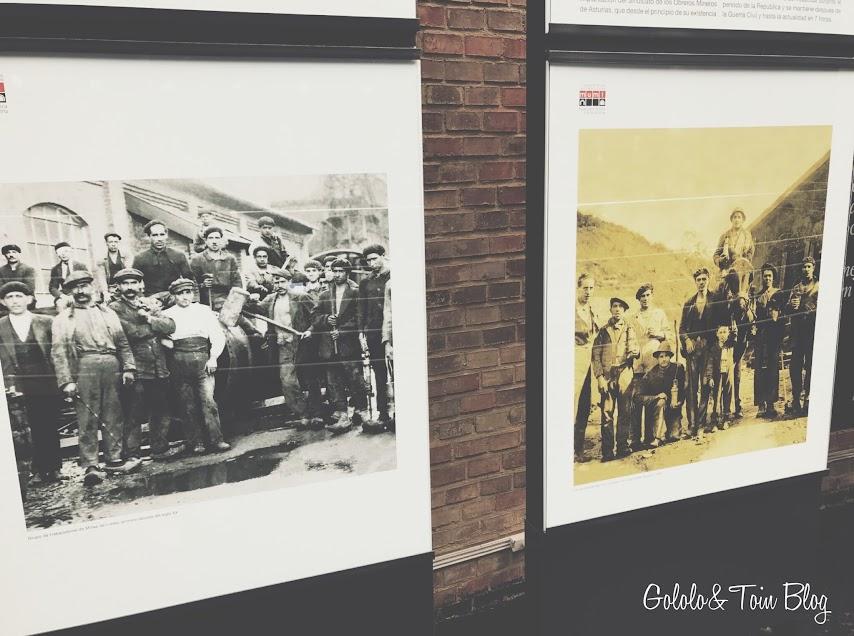 Imágenes de mineros asturianos