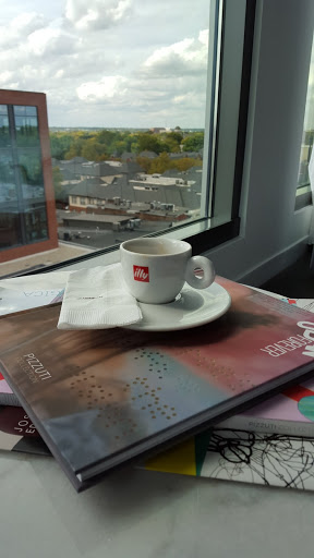 illy espresso plus a view of campus? Happy educator! Art and Luxury: Where to stay in Columbus, Ohio
