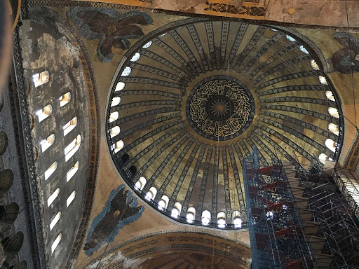hagia-sofya-cupola.jpg - The ancient cupola inside Hagia Sophia, which dates from 537 A.D.