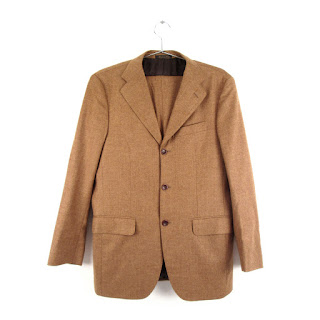 Eredi Pisano 3-Button, Caramel Brown Two-piece Suit