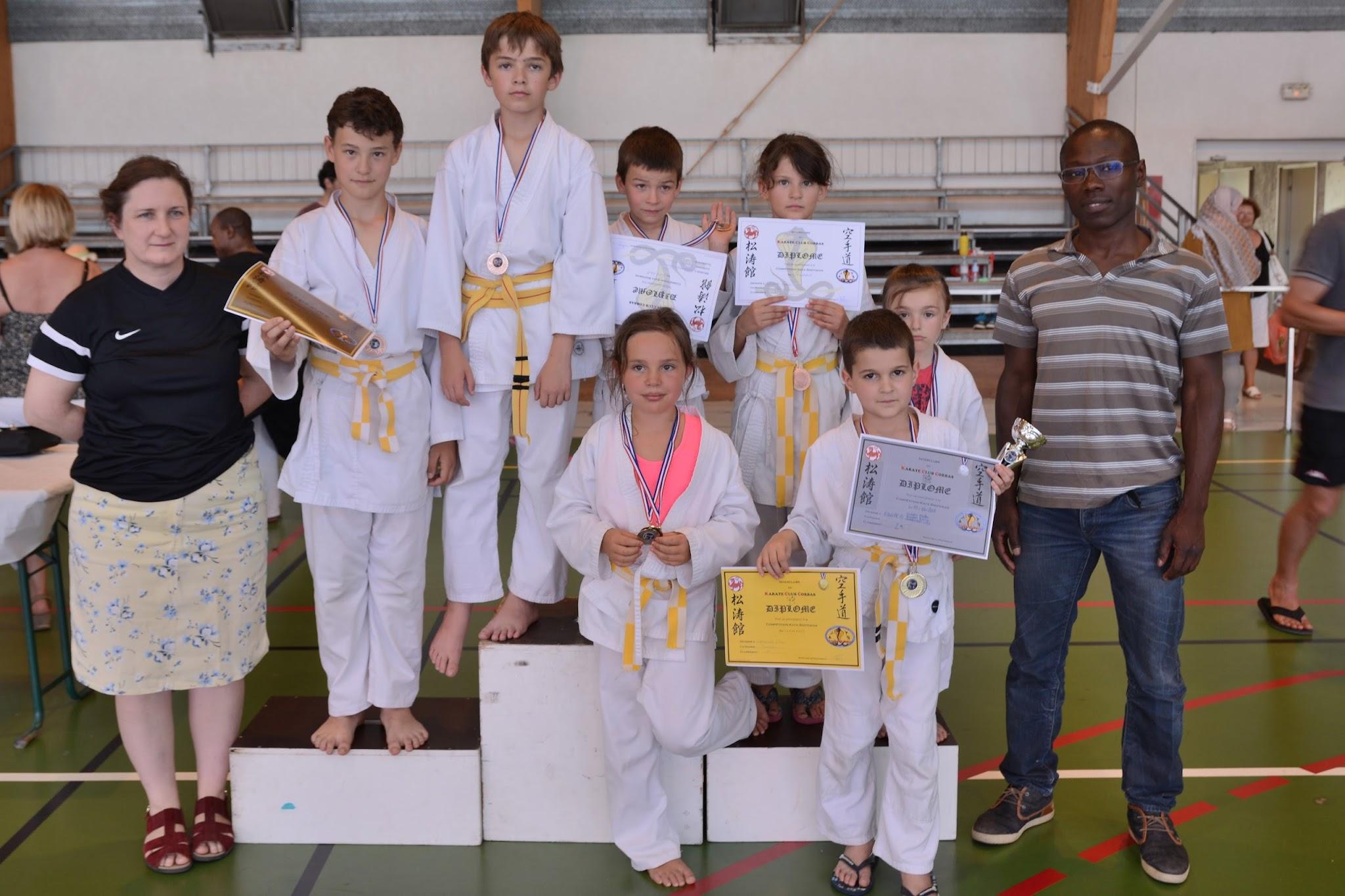 Interclubs du Karaté Club Corbas, Compétition Katas du 11/06/2017