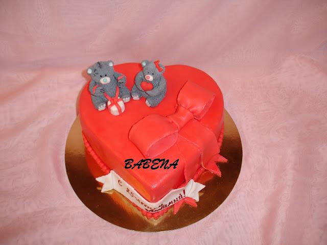 торт сердце для любимого-фото