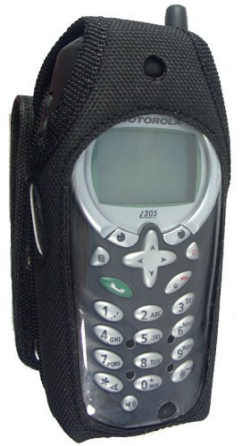 Heavy Duty Rugged Dura-Case with Canvas Snap Belt Loop and Metal Belt Clip for Nextel I305 and I315