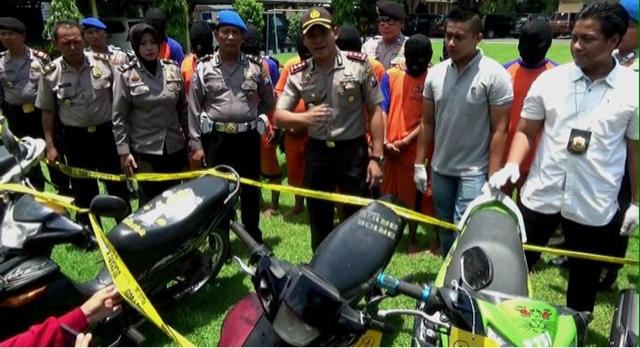 Sindikat Curanmor Antardaerah Dibekuk Polisi