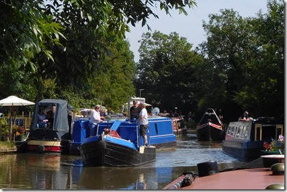 6 and busy with historic boats from braunston