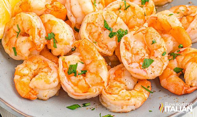air fried shrimp on a plate