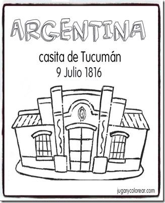 Colorear La Casita De Tucumán 9 De Julio