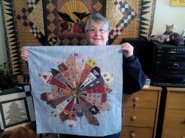 Dresden Neighborhood Quilt by Carol Ann Blank