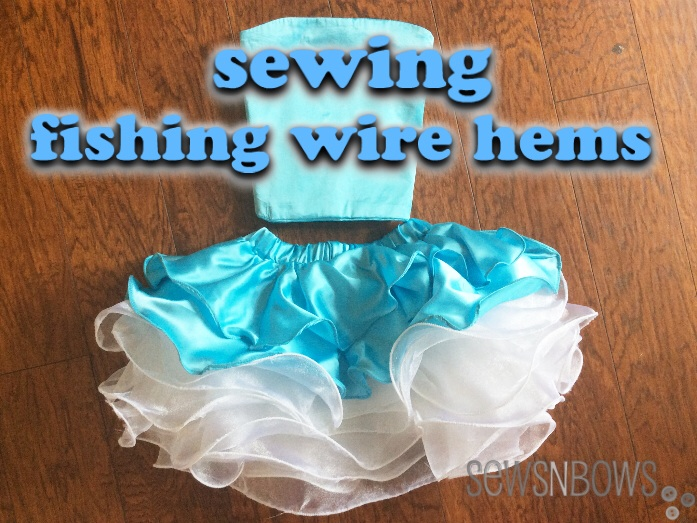 Serger Pepper - Sewing Lace like a Pro - 40+ best tips -  Sewing Fishing wire hems - on SewsNBows.com