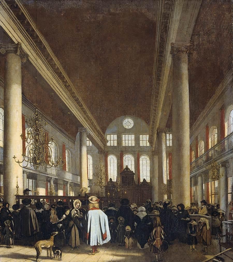 http://upload.wikimedia.org/wikipedia/commons/5/52/Emanuel_de_Witte_-_Interior_of_the_Portuguese_Synagogue_in_Amsterdam_-_WGA25814.jpg