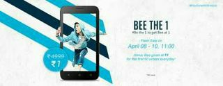 Huawei Honor Bee Mobile Rs. 1 For First 50 Orders – Hihonor