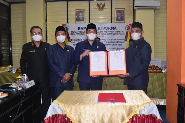 DPRD Kotabaru Setujui RAPBD-P 2021 Menjadi Perda