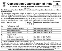 CCI Deputation Recruitment 2016