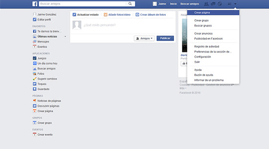 Crear página de empresa Facebook Conquista internet