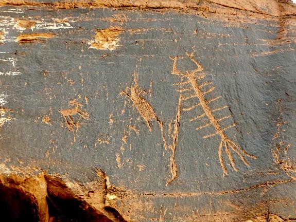 Roadside petroglyphs