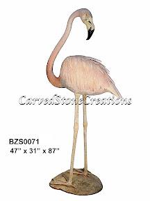 Bronze, Flamingo, Pink, Statue