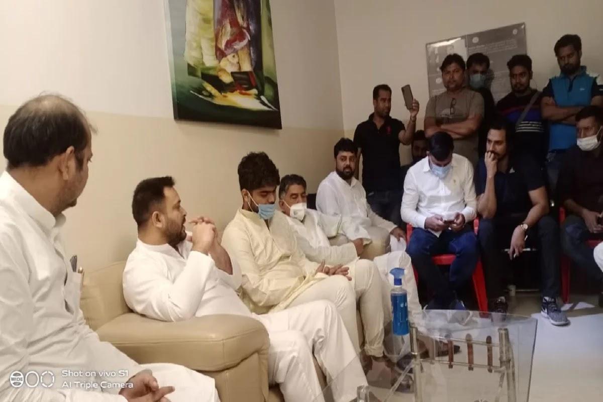 शहाबुद्दीन की पत्नी की तबियत बिगड़ी, पटना के अस्पताल में देर रात पहुंचे तेजस्वी यादव