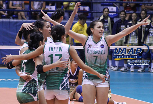 UAAP Women'sVolleyball - Round 2 - DLSU vs NU - Winner Results - 01-19-2013