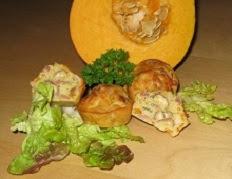 Mini cakes au potiron noisettes et lardons