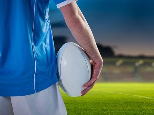 Jugador de Rugby en el campo