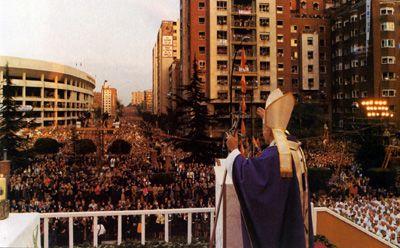 Misa de las Familias, Plaza de Lima, 2 de noviembre de 1982