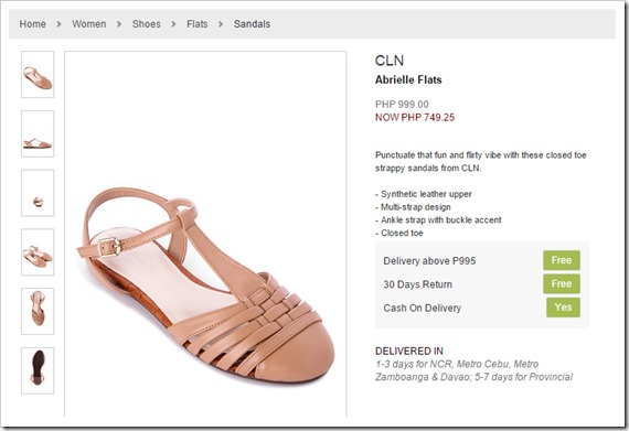 zalora sandals cln
