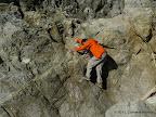 Scrambling over rocks