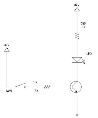 Rangkaian transistor sebagai saklar