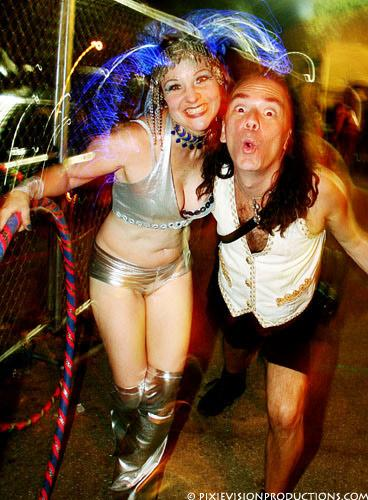 Michael Wisnieux With Pyrategyrl Megan Machina Candeo, Michael Wisnieux