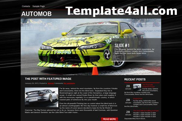Free Cars Black Wordpress Theme Template
