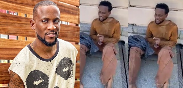 'Omashola needs prayers' - Manager finally speaks on the viral video of him wearing rags in the middle of a street
