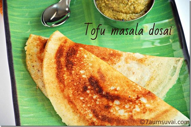 Tofu masala dosai/ Tofu masala dosa