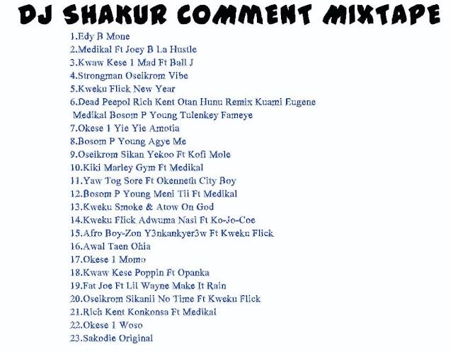 DJ SHAKUR COMMENT MIXTAPE