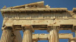 Closeup of the facade - whatever original art was there is stored in the New Acropolis museum