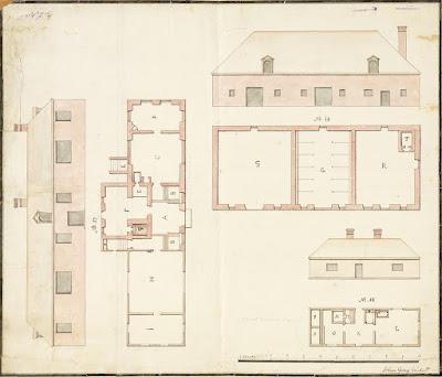 План дома Петра I и строений при нем