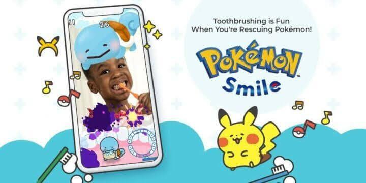 Pokémon Smile الآن لإنقاذ Pokémon. اغسل أسنانك بالفرشاة بانتظام لإزالة البكتيريا الخطيرة الموجودة على أسنانك.