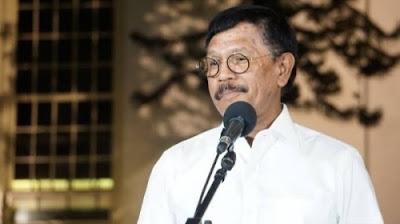 Menteri Komunikasi dan Informatika (Menkominfo), Johnny G Plate.