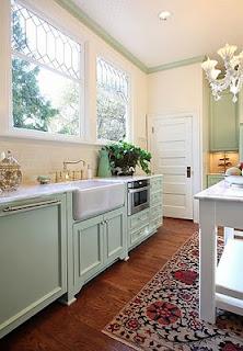 cocina verde agua
