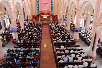 Giáo xứ Mưỡu Giáp đón cha xứ mới.