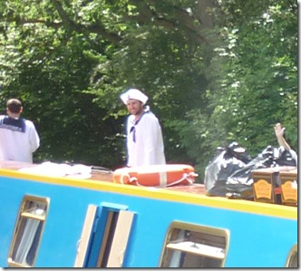 3 sailors at bakers lock