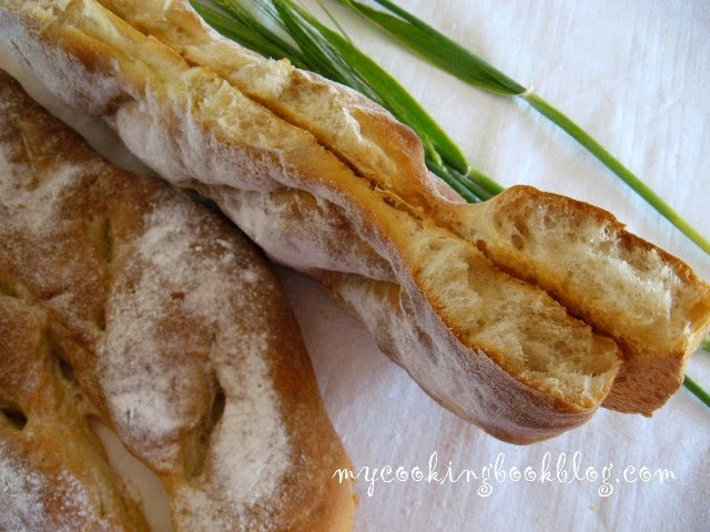 Фокача (Fougasse bread) или плосък хляб