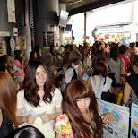 waiting in queue at Campus Summit 2013 in Shibuya, Tokyo, Japan