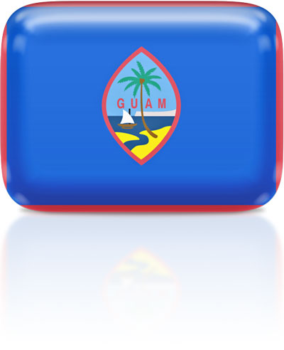 Guamanian flag clipart rectangular